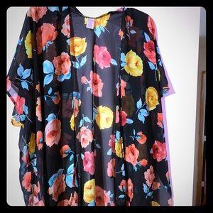 Beautiful floral kimono with black background